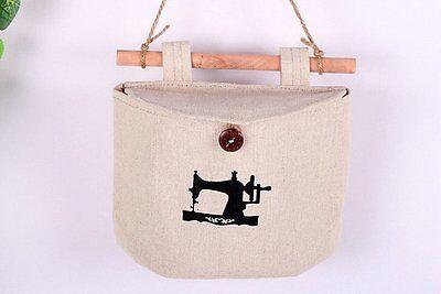 Multi-function Hanging Zakka 8 Patterns Semicircle Pocket Organizer Storage Bags