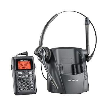 Plantronics CT14 Black Headband Earhook Headset Cordless Phone with Dial Key Pad