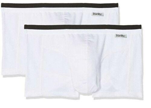 HANES Man Lower Parts Basic Stretch Cotton Bottoms Uomo AQ005H2.WHT
