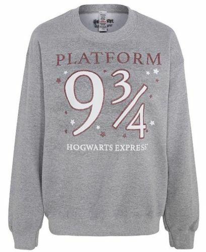 NEW Womens Harry Potter Marl Grey Slogan Sweatshirt Jumper 12-14 16-18 20-22 24