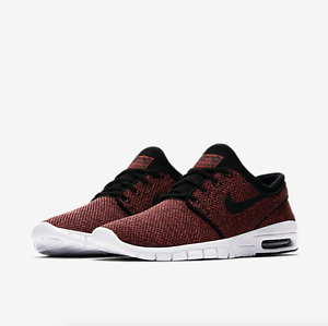 Nike sb janoski max in 631303-606 rosso / nero - 631303-606 in heather 76b979