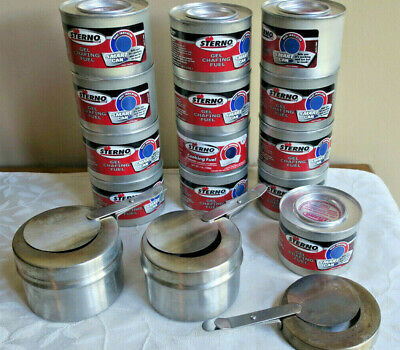 Chafers & Accessories 13 Gel Chafing Fule Cans Be Shrewd In Money Matters Business & Industrial Honest 2 Stainless Sterno Chafer W/1 Extra Safety Cover