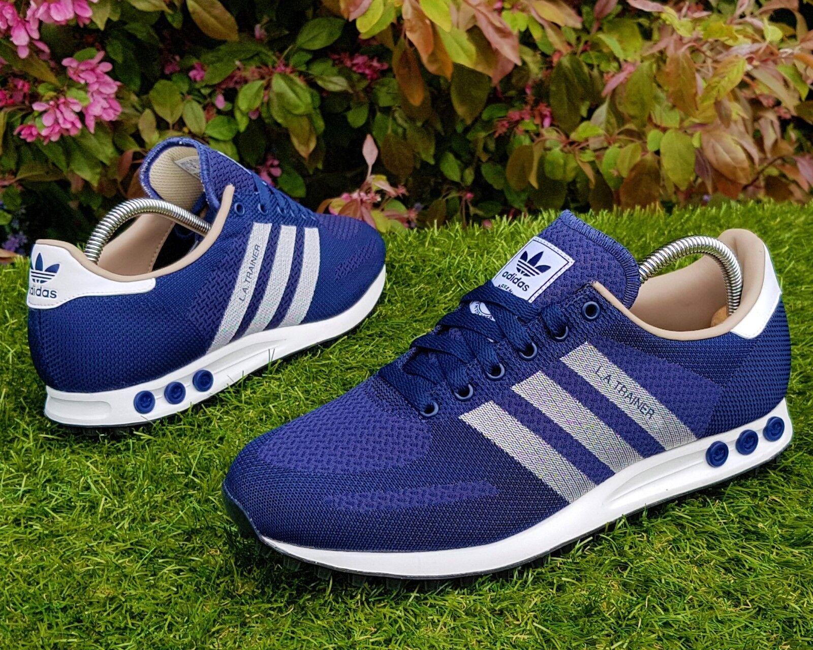 bnwb echte adidas originals ® la trainer weben uk blauen retro - ausbilder uk weben größe 11. bf08cb