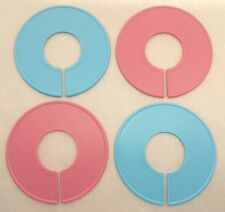Plastic Pink Amp Blue Round Clothing Rack Size Clothes Closet Divider 10 50 Pack