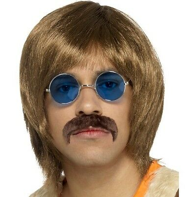1960 S KIT Hippie Uomo Hippy Cantante Costume Accessori Parrucca Tash specifiche