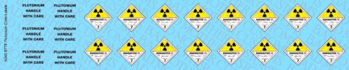 1//6 Back to the Future Plutonium Case Waterslide Decals for Doc or Marty