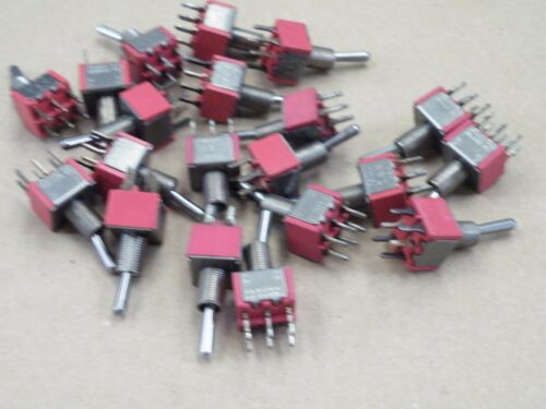 20 Pcs Miniature Toggle Switch DPDT C/&K 7201 Hobby Model Railway No Nuts CS19