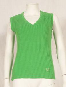 034-NINA-RICCI-Shopping-034-annees-60-Francais-Vintage-sans-manches-Pull-UK-8-10