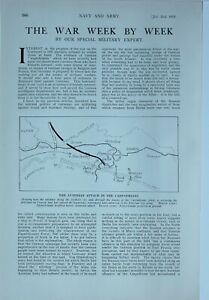 1914 WW1 ARTICLE & PICS WAR NEWS AUSTRIAN ATTACK CARPATHIANS TRENCH DRAINS