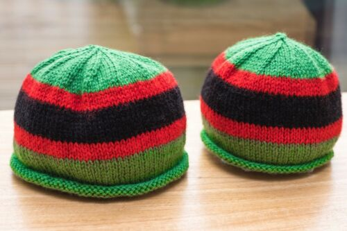 The Rifles hand knitted baby and toddler hats
