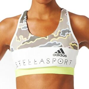 3ba364665a343 adidas Womens Stellasport Camo Print Sports Bra Stella McCartney Gym ...