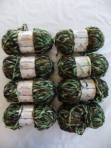 Eight-5-oz-245-yards-Skeins-of-Yarn-Bee-Boucle-Tradition-Yarn-Color-Green-Camo
