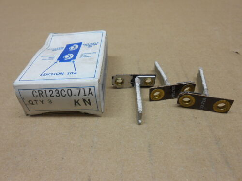 3 NIB GE CR123C0.71A CR123C071A OVERLOAD RELAY HEATER ELEMENT