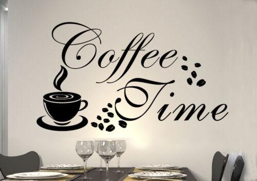 WandTattoo Wandsticker WandSpruch CAFE Time COFFEE KAFFEE CAFE Herz KÜCHE KF15