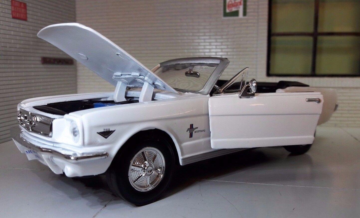 1 24 Escala Ford Mustang 1964 Kongrönible Cabrio Fundido modelllllerlerismo Coche 73212
