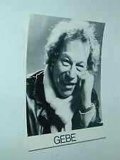 GEBE Georges Blondeau dessinateur BD  tirage photo photographie 12.5X17.5 mm