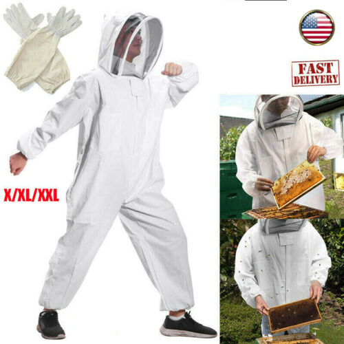 Beekeepers Bee Suit Beekeeping Coverall Protective Super Thick Fencing Veil XL