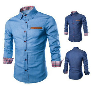 Luxury-Mens-Casual-Stylish-Slim-Fit-Long-Sleeve-Casual-Formal-Dress-Shirts-Tops