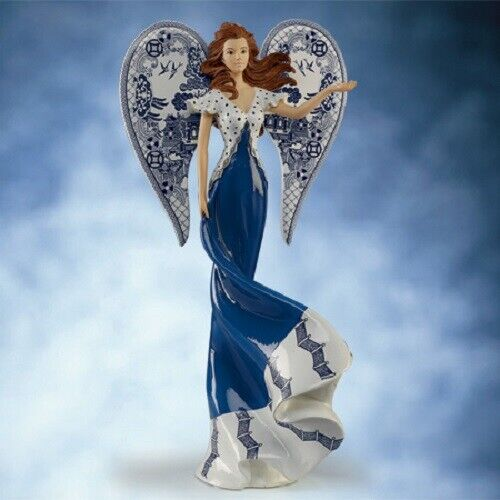 Bringing Blessings for Calm Memories Angels of  Blue Willow Angel Lady Figurine