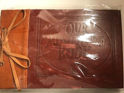 Our Adventure UP Disney scrapbook Leather stickers corner tabs button pictures