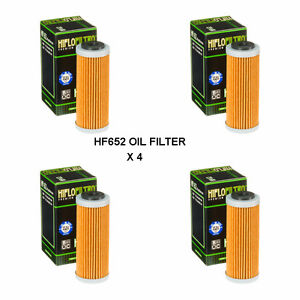 KTM-250-SXF-FITS-2013-TO-2019-HIFLOFILTRO-OIL-FILTER-HF652-4-PACK