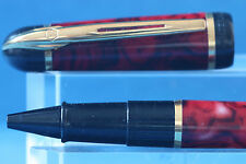 Vintage Waterman Phileas Red & Black Swirl Ballpoint Pen, Cased