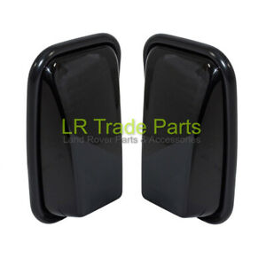 LAND-ROVER-DEFENDER-90-110-130-NEW-GLOSS-BLACK-XS-WING-MIRRORS-MIRROR-HEADS-X2