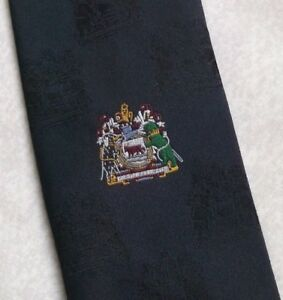 Vintage-Tie-Mens-Necktie-COAT-OF-ARMS-CRESTED-Oxfordshire-Crest