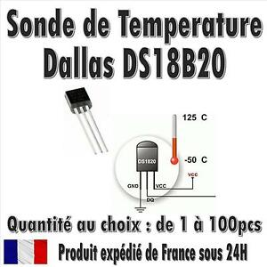 Dallas-DS18B20-1-Wire-Digital-Thermometer-TO-92-Quantite-de-1-a-100pcs