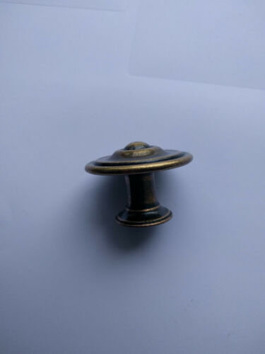 35mm Antique Style Solid Brass Cupboard Knob 57AX