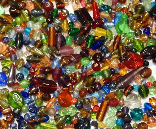 250 g Indische Glasperlen Mixform Bunte Lampwork Schmuck Konvolut BEST MIX20