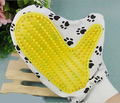 Pet Dog Cat Animal Hair Removal Bath Glove Grooming Cleaning Brush Comb CA WB3