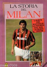 ALBUM FIGURINE=LA STORIA DEL MILAN 1930-1992=VUOTO=MASTERS EDIZIONI=1992