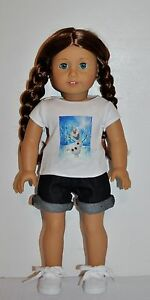 AMERICAN-MADE-DOLL-CLOTHES-FOR-18-INCH-GIRL-DOLLS-DRESS-LOT-034-FROZEN-OLAF-034-SHORT