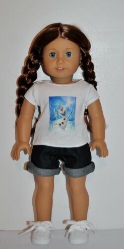"OLAF/"" SHORT AMERICAN MADE DOLL CLOTHES FOR 18 INCH GIRL DOLLS DRESS LOT /""FROZEN"