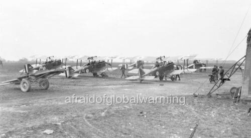 """Photo 1918-9 WW1 /""""Australian S.E.5A Fighter Planes/"""""""