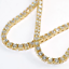 thumbnail 3 - 3mm VVS Lab Diamond 1 Row Yellow Gold Plated Tennis Chain Solid Steel Necklace