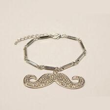 Mustache Charm Bracelet