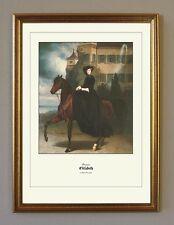 Prinzessin Sisi 16 Jahre zu Pferd Schloß Possenhofen  K&K Faksimile 20 im Rahmen