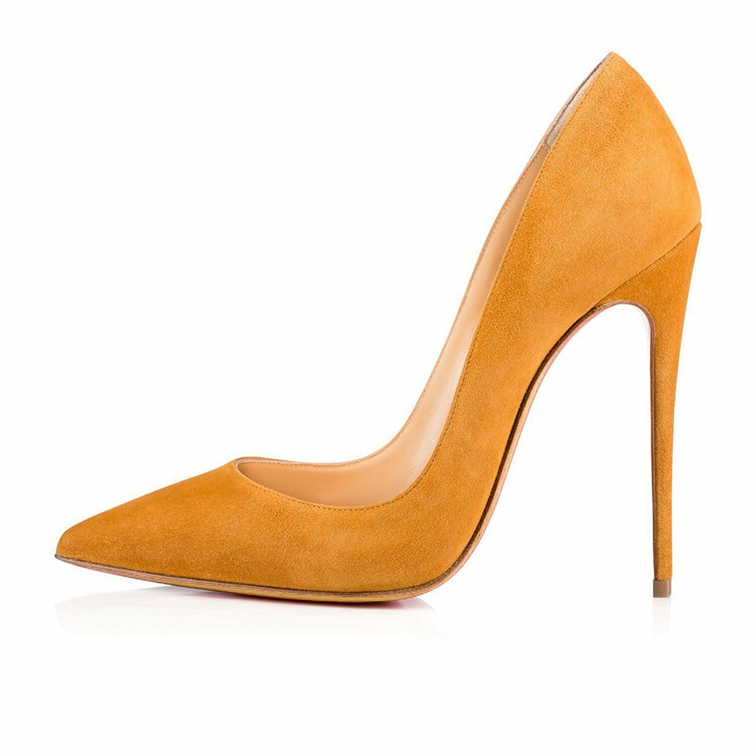 Women's Pointed Toe Court shoes shoes shoes Elegant Suede Slip On Stilettos Pumps Big Size 48807a