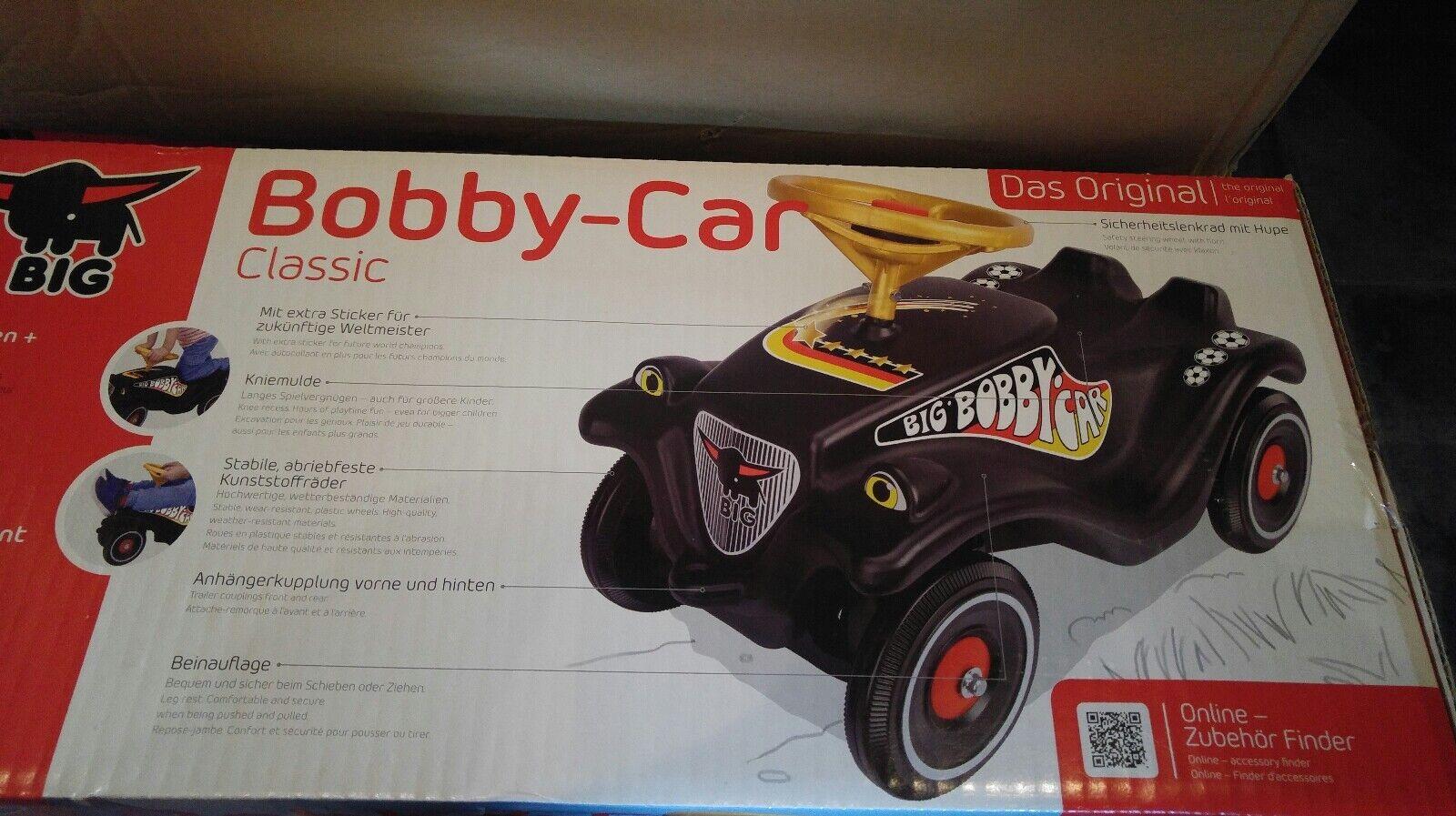 BIG Bobby Car WM Fußball Fan-Edition SCHWARZ Rutscher Auto Baby Paket NEU & OVP