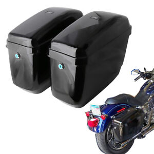 Details About Universal Hard Bags Motorcycle Saddlebags Luggage Bag For Yamaha Suzuki Honda