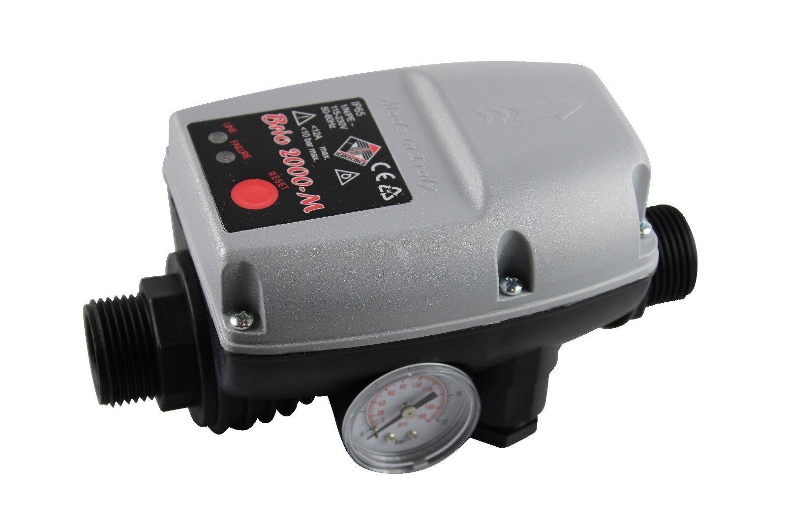 Italtecnica Brio 2000m (manómetro) bombas de control electrónico de interruptor de presión