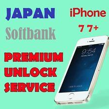 FACTORY UNLOCK PREMIUM SERVICE SOFTBANK JAPAN iPhone  7 7+ All IMEI OK