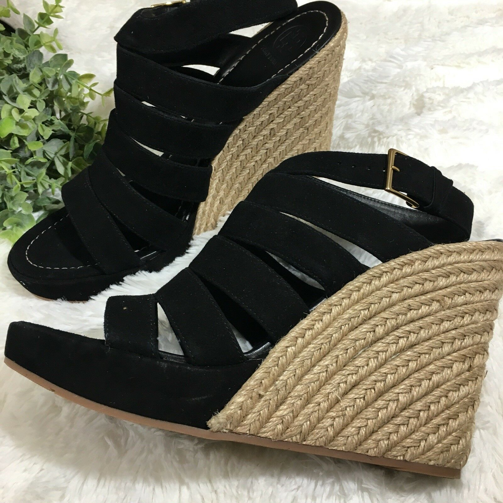 Tory Burch Bailey Multi Multi Multi Steal Wedge Espadrille Sandals Dimensione 10.5 Retail  358 f91631