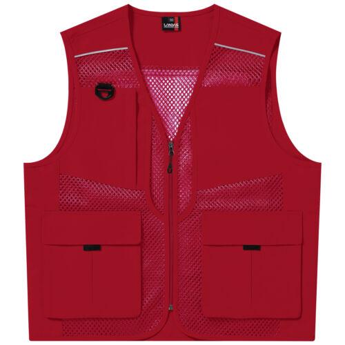 LD470 New Utility Multi Pockets Mesh Vest Safety Fishing Hunting Work Waistcoats