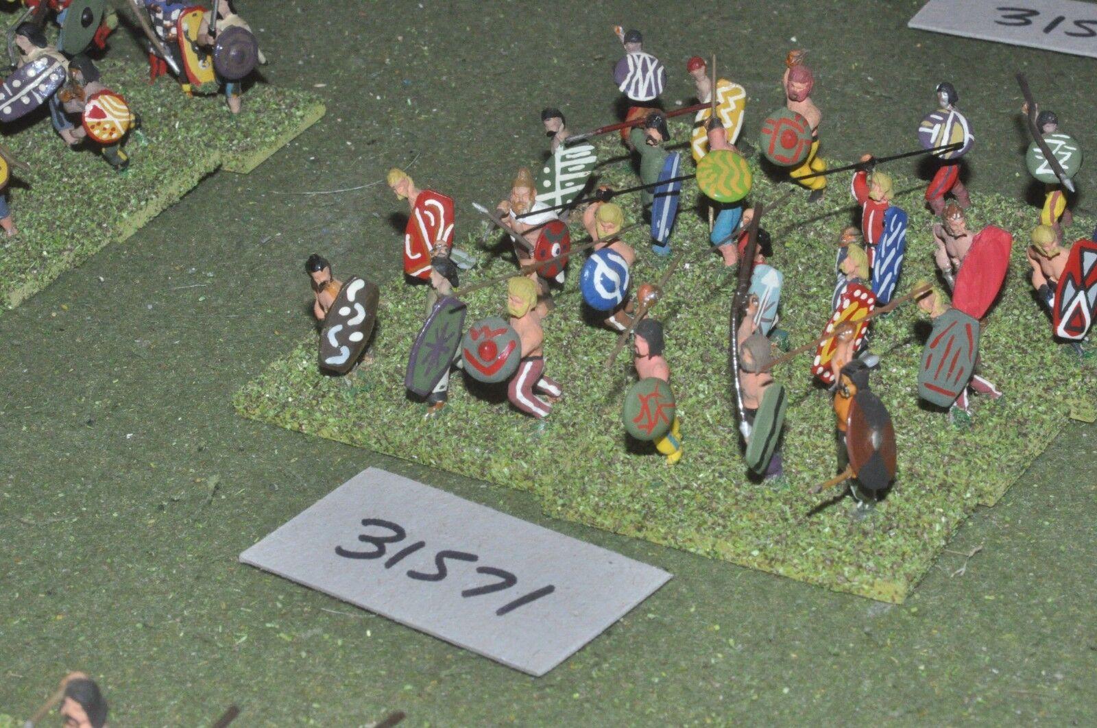 25mm roman era   barbarian - warband 24 figures - inf (31571)