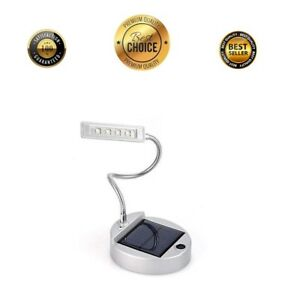 Solar-Powered-LED-Super-Bright-Recharge-Book-Light-Rechargeable-Desk-Table-Lamp