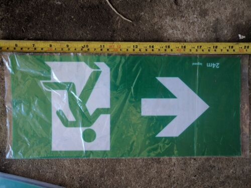 picture FAMCO 360mm x 160mm thickness: 0.5mm flexible plastic EXIT sign