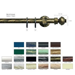 Scorritenda-Corda-Strappo-Bastone-20mm-Tenda-Ferro-Battuto-Terminale-BOTTONEVami